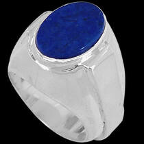Men's Jewelry - Lapis Lazuli and Sterling Silver R977