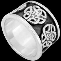 Celtic Jewelry - .925 Sterling Silver Celtic Rings  CR503
