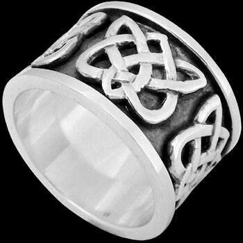 Celtic Jewelry - .925 Sterling Silver Celtic Rings CR504