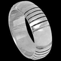Mens Jewelry - .925 Silver Thumb Rings R1-10051