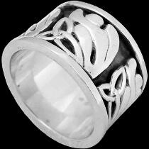 Celtic Jewelry - .925 Sterling Silver Celtic Rings CR516