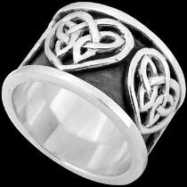 Celtic Jewelry - .925 Sterling Silver Celtic Rings CR512