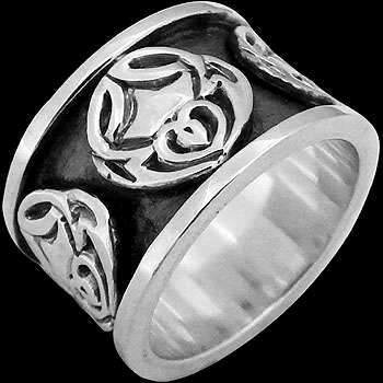 Celtic Jewelry - .925 Sterling Silver Celtic Rings CR502