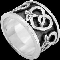 Mens Jewelry - .925 Sterling Silver Celtic Rings CR501