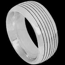 Mens Jewelry - .925 Silver Thumb Rings R1-10055