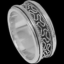 Men's Jewelry - .925 Sterling Silver Meditation Rings R1-10173