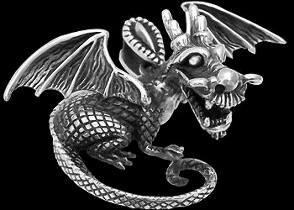 Gothic Jewelry - .925 Sterling Silver Dragon Pendants P283
