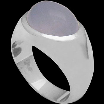 Men's Jewelry - Chalcedony .925 Sterling Silver Ring R752 - Polish Finish