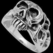 Gothic Jewellery -.925 Sterling Silver Skull Rings RCK810