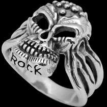 Gothic Jewellery -.925 Sterling Silver Skull Rings RCK910