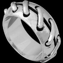 Mens Jewelry - .925 Silver Thumb Rings R1504