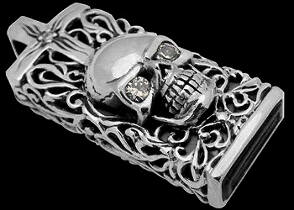 Jewelry - Sterling Silver Flash Drive Skull Pendants P753
