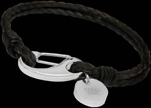 Men's Jewelry - Genuine Braided Leather and 316L Stainless Steel Bracelets A010