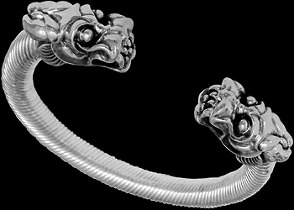 Jewelry - Sterling Silver 'The Protector' Dragon Cable Bracelets B984c - 10mm