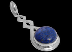 Grooms Jewelry -  .925 Sterling Silver and Lapis Lauzil Pendants MP030B