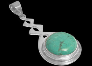 Grooms Jewelry -  .925 Sterling Silver and Turquoise Pendants MP030B