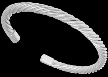 Celtic Jewelry - Sterling Silver Cable  Bracelets B438 - 6mm