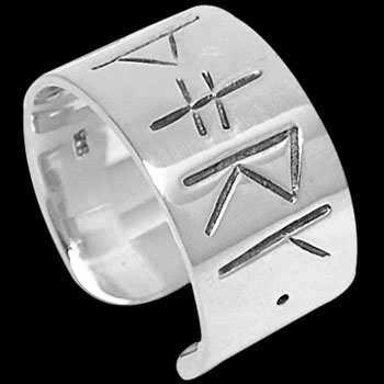 .925 Sterling Silver Rings ACRI37B - Nordic Runes Bands
