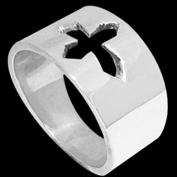 Religious Jewelry - .925 Sterling Silver Rings Crosses R1-10030