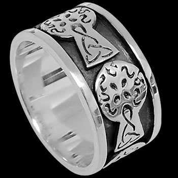.925 Sterling Silver Rings R100 - Celtic Bands