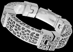 Sterling Silver Bracelets B5984 - Security Clasp
