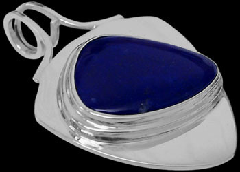 Men's Jewelry - Lapis Lazuli and .925 Sterling Silver Pendant MP090