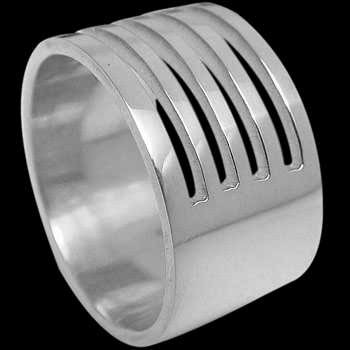Plus Size Jewelry - Sterling Silver Rings R3-10207L