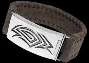 Genuine Brown Leather and Sterling Silver Bracelets BR1240