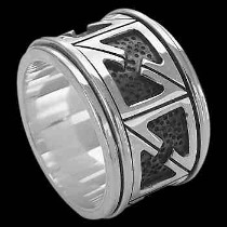 Groomsmen Jewelry - Sterling Silver Rings Spinning AN100
