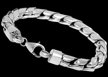 Sterling Silver Bracelets B107L - Lobster Clasp -8mm