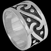 Mens Jewelry - .925 Silver Thumb Rings R1-10036