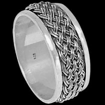 Mens Jewelry - .925 Silver Thumb Rings R027