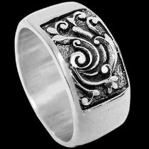 Mens Jewelry - .925 Silver Thumb Rings R705