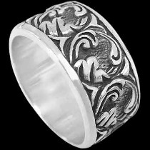 Mens Jewelry - .925 Silver Thumb Rings R706