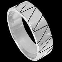 Mens Jewelry - .925 Silver Thumb Rings R1-20103