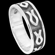 Mens Jewelry - .925 Silver Thumb Rings R1-20111