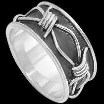 Mens Jewelry - .925 Silver Thumb Rings R1-10046