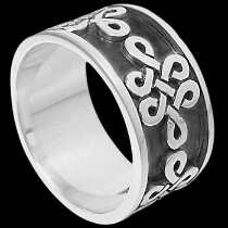 Mens Jewelry - .925 Silver Thumb Rings Celtic II