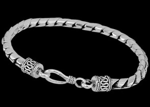 Grooms Jewelry - Sterling Silver Bracelets B107H - Hook Clasp - 5mm