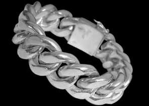 Sterling Silver Bracelets B628 - Security Clasp - 20mm