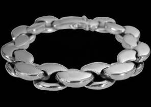 Grooms Jewelry - Sterling Silver Bracelets B638CLP - Security Clasp