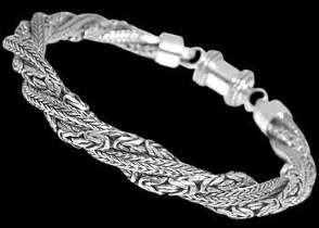 Grooms Jewelry - Sterling Silver Bracelets B735B - Barrel Clasp - 6mm