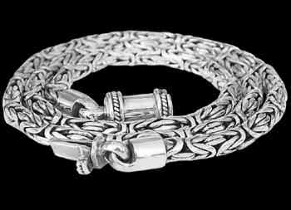 Sterling Silver Necklaces N02B - Barrel Clasp - 4mm