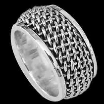 Mens Jewelry - .925 Sterling Silver Rings R1-10176a