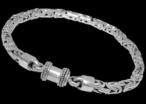 Grooms Jewelry - Sterling Silver Bracelets B04B - Barrel Clasp - 6mm