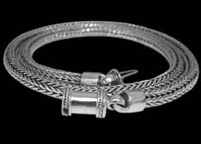 Men's Necklaces - .925 Sterling Silver Necklaces N012B - Barrel Clasp - 6mm