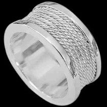 Mens Jewelry - .925 Sterling Silver Rings RI95A