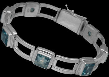 Gemstone Jewelry - Topaz and Sterling Silver Bracelets B16ATP