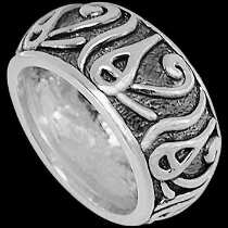 Mens Jewelry - .925 Sterling Silver Rings CR670