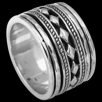 Mens Rings - Silver Spinning Rings R1184